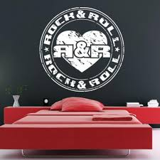 Wall Decal Decal Sticker Bedroom Decals Rock And Roll Emblem Symbol Mu Stickersforlife