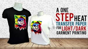 T Shirt Printing Using Laser Opaque Transfer Paper Youtube