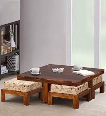 solid wood square coffee table by