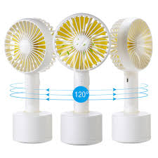 Mini Handheld Personal Fan Portable Rotate Usb Fan Battery Powered Electric Fan Rechargeable Small For Woman