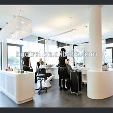 beauty solid surface hair salon desk