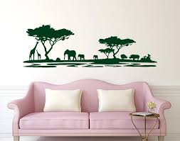 Hot Sale Safari Africa Forest Wall Decal Vinyl Stickers For Home Decor Living Room Animal Wall Vinyl Decal Adesivo Ny 228 Stickers For Home Stickers Forvinyl Stickers Aliexpress