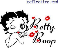 Betty Boop Vinyl Car Decals Decal Vinyl Sticker Reflective Silver Silver Sequence Silver Tidesticker Tag Aliexpress