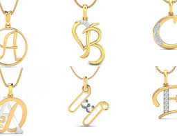alphabet pendant designs in gold gold