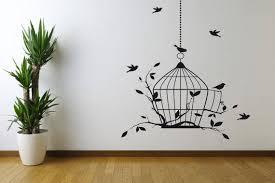 Bird Cage Vinyl Wall Decal Sticker Wall Art Sticker Vinyl Etsy