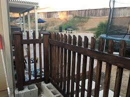 Cinder Block Wood Fence Easy Way To Make A Fence Without Digging Use The Cinder Block To Cement The Posts In Will Be Backyard Fences Easy Fence Wood Fence