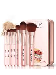 makeup brush set with tin box