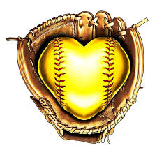 Softball Heart Glove Vinyl Decal Softball Heart Decal Love Etsy