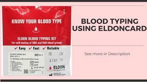 blood typing using eldoncard best