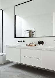 black bathroom hardware minimalist