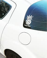 Pura Vida Volleyball Pineapple Decal Vinyl