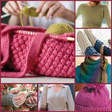 family happy with knitting gifts