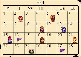 fall stardew valley wiki