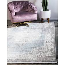 Twila Persian Inspired Gray/Light Blue/Ivory Area Rug in 2020   Area rugs,  Rugs, Grey area rug