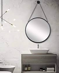 round mirror with hanging chain