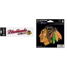 Chicago Blackhawks Official Nhl Perfect Cut Car Decal And Car Refrigerator Magnet 5x5 Bundle 2 Items Walmart Com Walmart Com