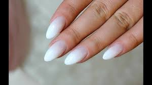 Baby Boomer Almond Nails French Fade Ombre French Youtube
