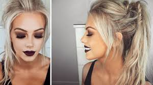 fall autumn inspired makeup hair