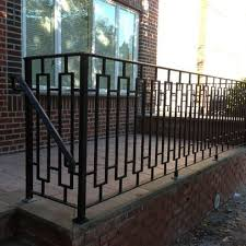 Wood And Metal Front Porch Railings