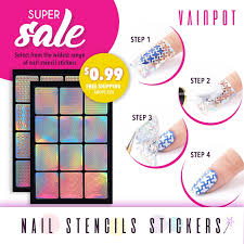 qoo10 nail vinyl guides bath body