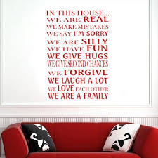 In This House We Are A Family Vinyl Decal Wall Decor Art Sticker V11 Kiscus