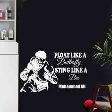 1933494572 Boxing Muhammad Ali Glove Sticker Kick Boxer Play Car Decal Free Combat Posters Vinyl Striker Wall Decals Parede Decor Home Garden Home Decor