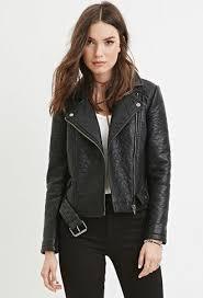 faux leather moto jacket black faux