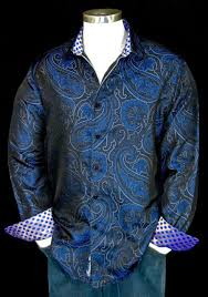 Robert Graham Jiminy Cricket NWT $498 Limited Edition Blue Silk Paisley  1XLB for sale online