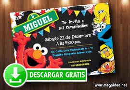 Invitaciones De Plaza Sesamo Para Editar Gratis Mega Idea