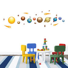 Space Jam Solar System Wall Decal Kids Room Wall Decals Kids Wall Decals