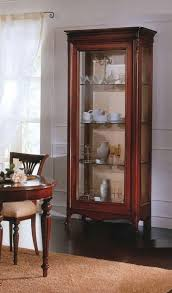 2 doors display cabinet with solid wood