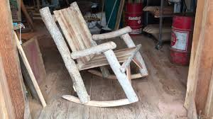 how to make your own log rocking chair