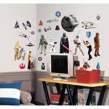 Roommates 10 In X 18 In Star Wars Classic 31 Piece Peel And Stick Wall Decal Rmk1586scs The Home Depot