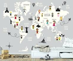 Wall Decals World Map Decal Nursery With Countries Children Sutanrajaamurang
