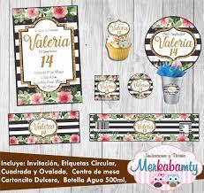 Invitacion Rayas Negras Y Blancas Kit Imprimelo Tu 69 00 En