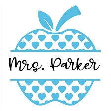 Amazon Com Heart Apple Teacher With Name Vinyl Die Cut Decal Sticker For Car Laptop Etc Mgm354 Handmade