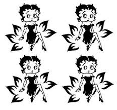 4x Or 6pc Betty Boop Vinyl Decal Silhouette Glass Stickers Wall Car Art Etc Ebay