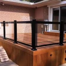 aluminum glass deck privacy glass for