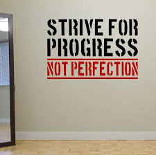 Items Similar To Strive For Progress Not Perfection Wall Fitness Decal Quote Gym Kettlebell Crossfit Yoga Boxing Wall Art On Etsy Progress Not Perfection Kettlebell Fitness Inspiration Body