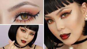 bat winged liner halloween makeup