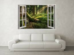 Woodland Scene 3d Full Colour Window Home Wall Art Stickers Mural Decal Ebay