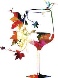 Amazon Com Rainbow Fall Autumn Lover Leaf Wine Glass Silhouette Vinyl Decal Sticker 4 Tall Automotive
