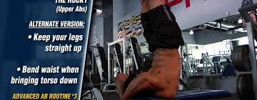 advanced abs workout routine from team