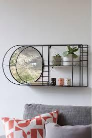 next wire mirror shelf black with