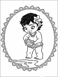 Vaiana Moana Kleurplaten Voor Kinderen 9 Cores Disney Desenho