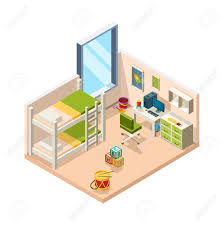 Kids Room Interior For Childrens With Desk Sofa And Toys Teenage Royalty Free Cliparts Vectors And Stock Illustration Image 129116852