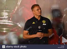 English football player Wes Brown attends a promotional event at the first  club-themed entertainment and experience center launched by Manchester  United in Beijing, China, 3 July 2019 Stock Photo - Alamy
