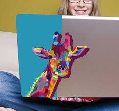 Giraffe 3d Laptop Sticker Tenstickers