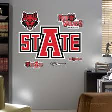 Arkansas State Logo Wall Decal Allposters Com Red Wolf Arkansas State Logo Wall