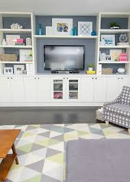 built in using ikea cabinets